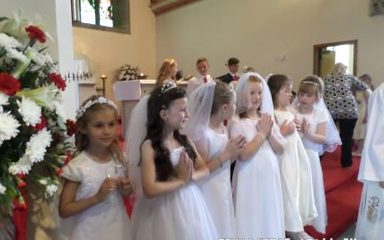 Celebrating our First Holy Communions.