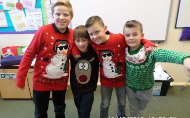 Christmas Jumper Day and Christmas Lunch.