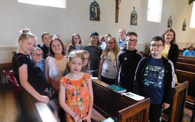 Mini Vinnies attend Mass for the Housebound