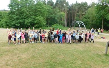 Buddies Trip to Hamsterley Forest for Y3 and Y6.