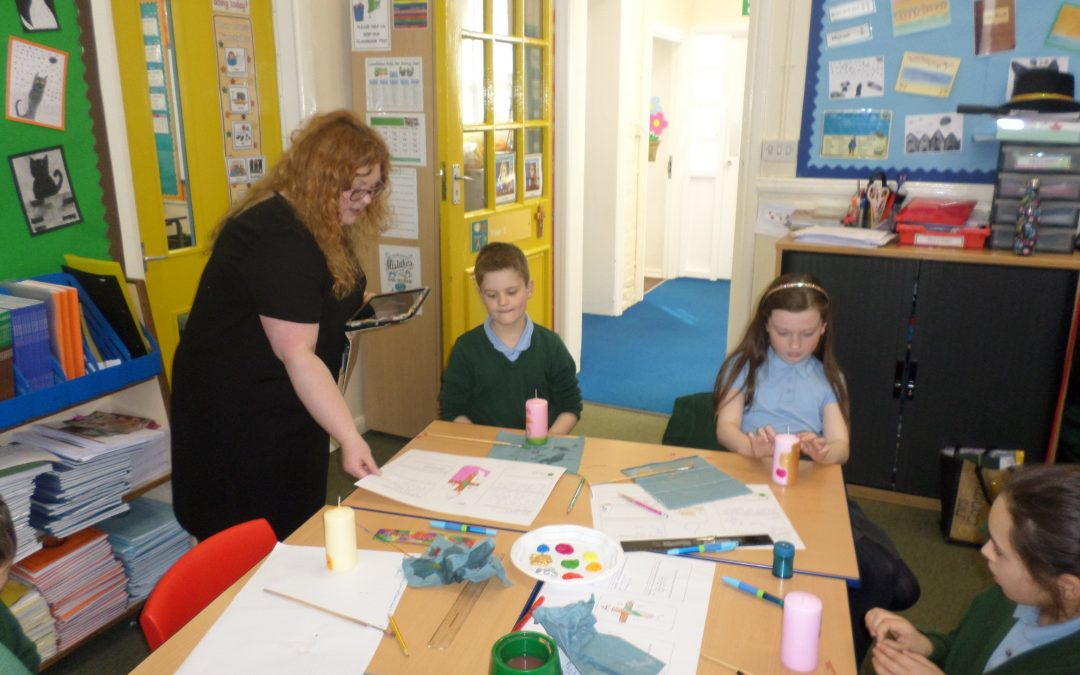 Creating Our Own Paschal Candles